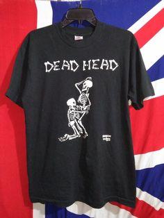 9481d60904a9f9 Vintage Fashion Victim 1992 Dead Head Skeleton T-shirt