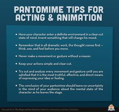 Pantomime tips