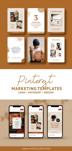 Kayla Marie is a professionally designed Pinterest marketing template of 30+ unique pins made for Canva, Photoshop or InDesign. This stunning pack is great for promoting your blog, website, eshop, online courses and more. It is also full of the moodboards, quotes, testimonials, resource pins, actions or sales.  #pinterestmarketing #pinterestpins #pinteresttemplates #canvatemplate #photoshop #ladyboss #coursecreator #ladypreneur #socialmediamarketing #bloggermarketing