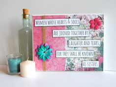Sisters Canvas Quote  Wall Decor  Sister Gift  by SmilingHeartsCo