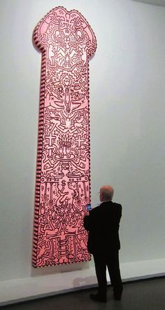 "man-reading: "" The size of manhood A work by Keith Haring exhibited at the Museum of Modern Art in Paris. Keith Haring Art, Inspiration Artistique, Art Japonais, Arte Pop, Gay Art, Art Furniture, Museum Of Modern Art, Celine Dion, Graffiti Art"