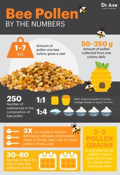 Bee pollen by the numbers - Dr. Axe http://www.draxe.com #health #Holistic #natural