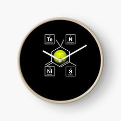 'Awesome Tennis gift for tennis players Periodic Elements, Funny Face Mask, Tennis Gifts, Quartz Clock Mechanism, Canvas Prints, Art Prints, Modern Prints, Tennis Players, Hand Coloring