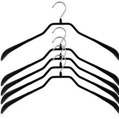 Clearance Bodyform Jacket Non-Slip Hanger (Set of By Mawa Black Hangers, Suit Hangers, Non Slip Hangers, Plastic Hangers, Jacket Hanger, Hanger Clips, Velvet Hangers, Velvet Suit, Garment Racks