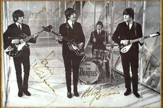 Large autographed Beatles pic from the UK TV Special The Music Of Lennon  McCartney. Great pose!