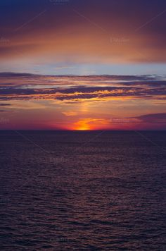 Sea sunset dramatic. Norway by alfonsodetomas on @creativemarket
