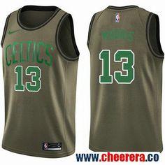 a23a0bbf5228 Men s Nike Boston Celtics  13 Marcus Morris Green Salute to Service NBA  Swingman Jersey John