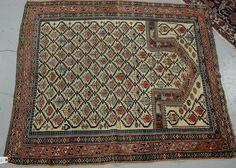 """Dagistan Oriental prayer rug.  3'10"""" x 4'5"""""""