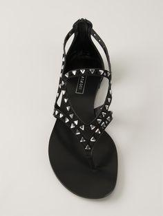 Casadei Embellished Flat Sandals - Russo Capri - Farfetch.com