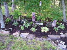 Growing The Home Garden: Gardening in the Home Landscape: A Woodland Shade Garden Design Process // Shade garden...I want to put it one of those, too.