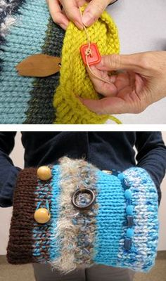 learn how to make a hand muff.  The muffs are used to calm someone with dementia.