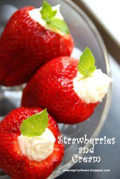 strawberries and cream cheese. yum.