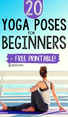 I LOVE these 20 beginner yoga poses. Having these yoga poses makes it so much easier to create your own yoga routine at home. Perfect for making a at home yoga workout to lose weight and get flexible at the same time! Basic Yoga Poses, Yoga Tips, Videos Yoga, Yoga Routine For Beginners, Yoga Symbols, Yoga For Stress Relief, Yoga For Flexibility, Yoga For Weight Loss, Yoga Lifestyle