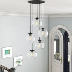 Stairway Lighting, Dining Lighting, Hallway Lighting, Lights For Hallway, Contemporary Dining Room Lighting, Modern Kitchen Lighting, Suspended Lighting, House Lighting, Track Lighting