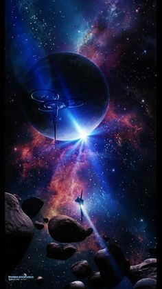 Modern Tee - Universe Stars & Planets by VIDA VIDA Buy Cheap Visa Payment bn6as