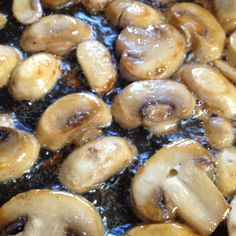 Properly browned mushrooms