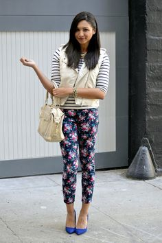Britt+Whit: Britt rocks some colorful floral denim!