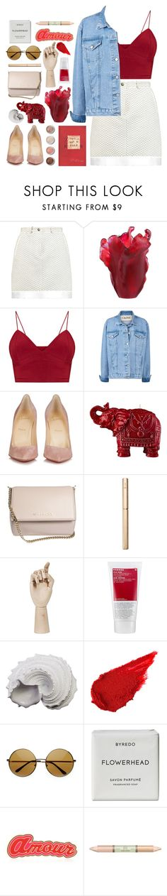 """""""you built a city, all in your head"""" by typicalgemini ❤ liked on Polyvore featuring Carven, Daum, Christian Louboutin, Terre Mère, Mario Luca Giusti, Givenchy, ystudio, HAY, Korres and Urban Trends Collection"""