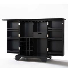 LaFayette Expandable Home Bar Liquor Cabinet from Brookstone
