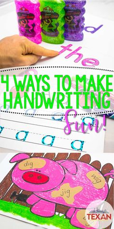 Handwriting practice is such an important aspect of education for kids.  While handwriting can often be overlooked, there are some simple and FUN ways to incorporate development of these fine motor skills in Kindergarten, First Grade, and beyond.  Check out my top 4 tips for fun handwriting practice!