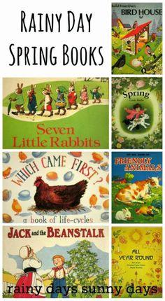 7 Rainy Day Books for Spring sunnydaytodaymama. Spring Activities, Learning Activities, Activities For Kids, Preschool Books, Preschool Printables, Preschool Ideas, Kids Reading, Reading Books, Reading Lists