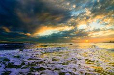 glowing golden sunset