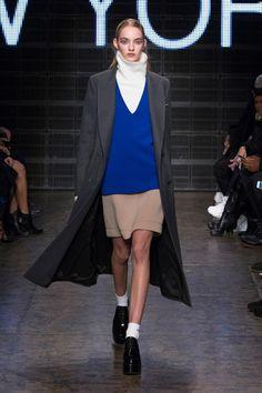 Cobalt blue makes a statement at DKNY Fall 2015 runway