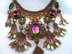 The Peacock - Beaded Necklace.