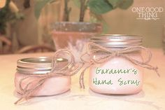 Gardeners hand scrub  (or I might just rename it just Hand Scrub, as it should get off oily dirt and probably even paint--I will have to try it for that!)