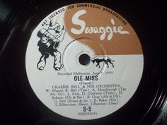 "First and Big Auction 78rpm in 2017 Come in & find out :-)  !!! Startprice only 1,99 Euro !!! Worldwide shipping !  GRAEME BELL & HIS ORCHESTRA ""Jumbuck Jamboree / Ole Miss"" Swaggie 78rpm 10"""