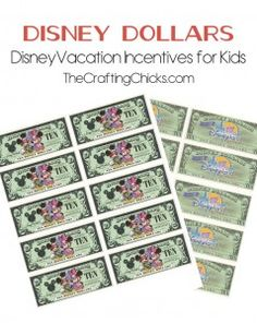 Disney Dollars printables