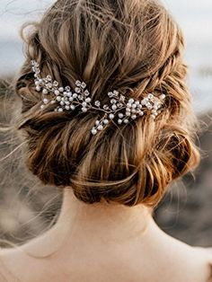 FXmimior New Arrival Hair Vine Bridal Wedding Crystals Rose Gold Rhinestone  Headband Headpiece Tiara Wedding Party Evening Hair Accessory (rose gold) a45bd8659896