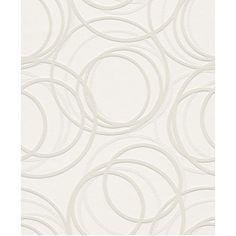Wallton Dimension Circle Paintable Wallpaper by Rasch 342208