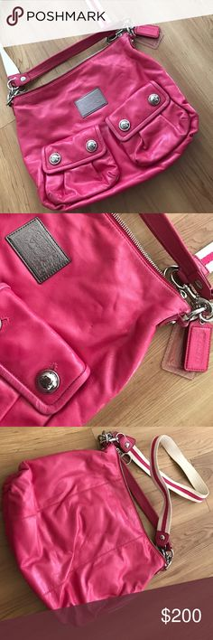 Coach Poppy Bag Beautiful Coach Poppy Handbag/Purse only used a handful of times. Removable shoulder strap. Great condition. Perfect for spring and summer. Coach Bags Shoulder Bags