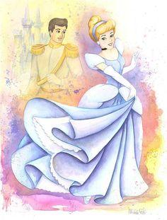 The Magical World Of Disney: Cinderella & Prince Charming Disney Pixar, Walt Disney, Disney Marvel, Disney Magic, Disney Characters, Disney Dream, Disney Love, Disney Beast, Cinderella And Prince Charming