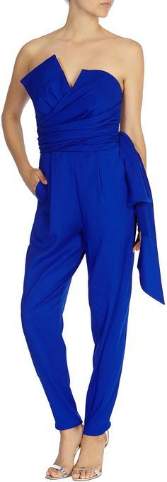 Womens electric blue prue jumpsuit from Coast - £79 at ClothingByColour.com