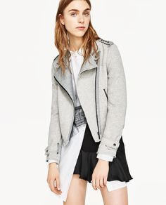 CROSSOVER PLUSH JACKET WITH ZIPS-JACKETS-WOMAN | ZARA United States