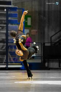 Italian Pairs champions- artistic roller skating