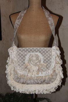 Shabby Chic Boho Gypsy Bag by lyndasdesigns1 on Etsy https://www.etsy.com/listing/195817263/shabby-chic-boho-gypsy-bag