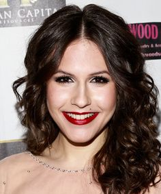 Erin Sanders Medium Curly Hairstyle - Dark Brunette (Mocha)