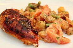 Potatisotto - lyxigt stuvad potatis med rödlök, tomat, haricot verts och gräslök