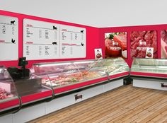 Мяснота: a butcher shop& identity - Packaging Insider Butcher Store, Meat Store, Cafe Exterior, Supermarket Design, Meat Markets, Farm Shop, Shop Plans, Living At Home, Shop Logo