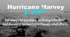 Show your support! Every $40 purchase ships in the US for free & we'll donate $5 to Harvey relief efforts. Now through Sep 4 at beadsandhoney.com.