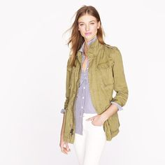 Boyfriend fatigue jacket by J Crew. Perfect for Springtime in Paris??