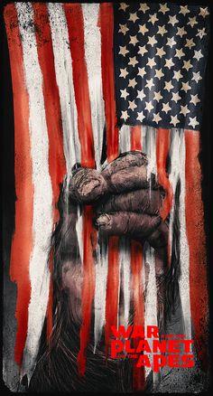 Image du film War For The Planet Of The Apes (Matt Reeves) de Rafal Rola Dawn Of The Planet, Planet Of The Apes, Best Movie Posters, Movie Poster Art, Pierre Boulle, Science Fiction, Creation Art, Crazy Fans, Evil Clowns