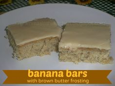 Banana Bars w/ Brown Butter Frosting