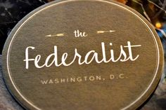 The Federalist Restaurant in DC!!