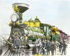 First locomotive to reach Vancouver [colourised]