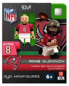 OYO Tampa Bay Buccaneers Mike Glennon Football Team Set Mini Figures  Limited Edition Mike Glennon 75ea206d7604d
