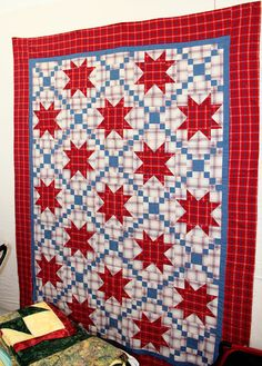 Plaid Stars quilt by Barb.  Posted at Cookie's Cree,